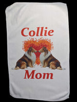 Collie Mom Rally Towels:  Collie Love