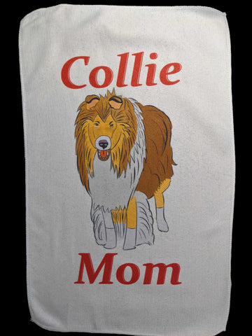 Collie Mom Rally Towels:  Courage of a Lion, Love of a Collie!