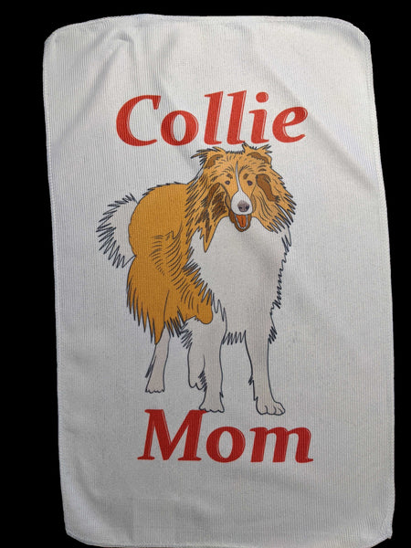 Collie Mom Rally Towels: Rough Sable #2