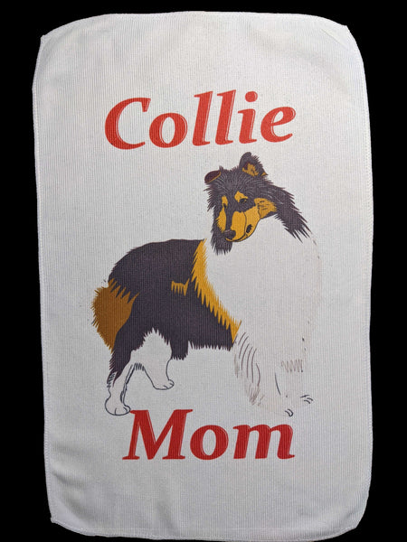 Collie Mom Rally Towels:  Rough Tri-color