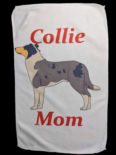 Collie Mom Rally Towels: Blue Smoothie