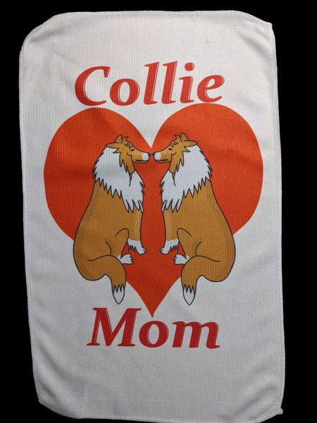 Collie Mom Rally Towels: Love in the Mirror