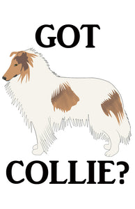 Got Collie?  T-shirts with White Rough