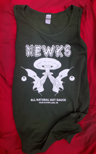 Newks Tank Top (Black, Green)