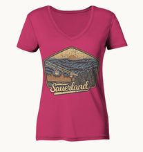 Laden Sie das Bild in den Galerie-Viewer, Sauerland - Ladies Organic V-Neck Shirt