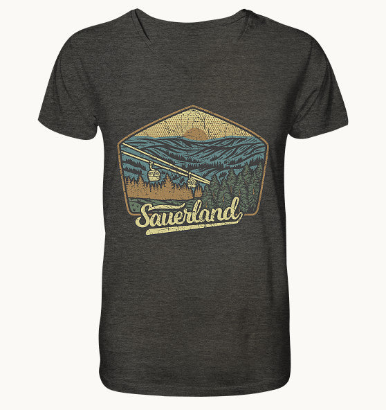 Sauerland - Mens Organic V-Neck Shirt