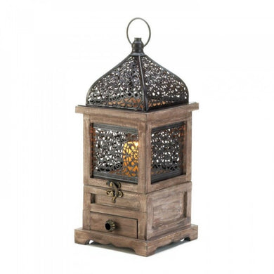 Large Flip-top Moroccan Wooden Lantern