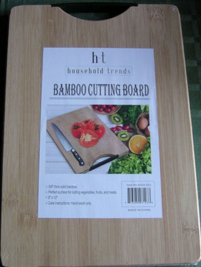 "Household Trends - BAMBOO CUTTING BOARD WITH A HANDLE 12"" X 8"""