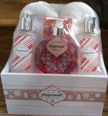 Purely Panache Peppermint Bath Gift Set