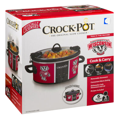 Crock-Pot 6 Quart University Of Wisconsin Cook & Carry Slow Cooker