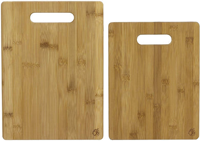 Totally Bamboo 20-2038 2-Piece Bamboo Cutting Board Set, Brown