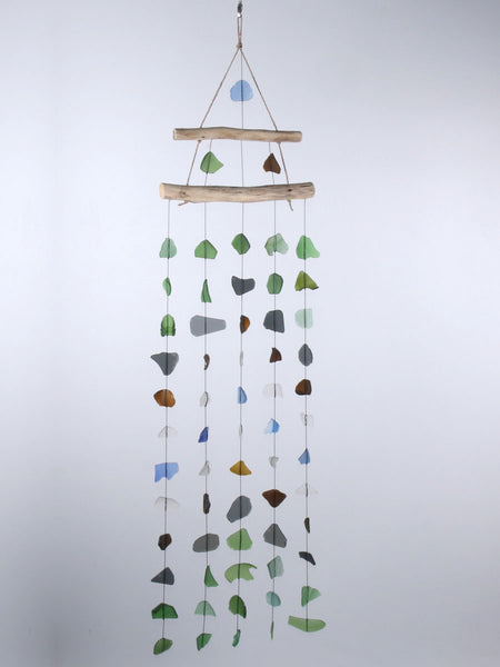 Beach glass wind chime 5 string