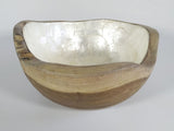 Wooden Bowl laminated with shell