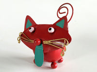Cat with tongue out as Card Holder