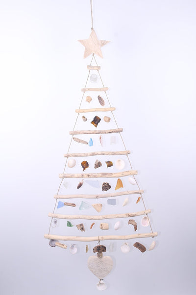 Hanging sea glass Christmas tree