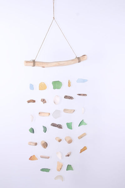 Hanging wood and glass