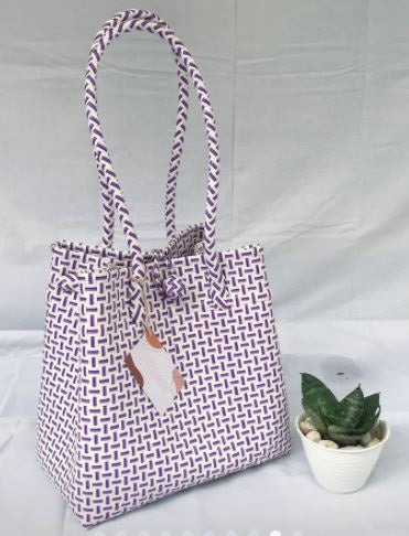 Bags From Recycling Plastic (White / Purple)