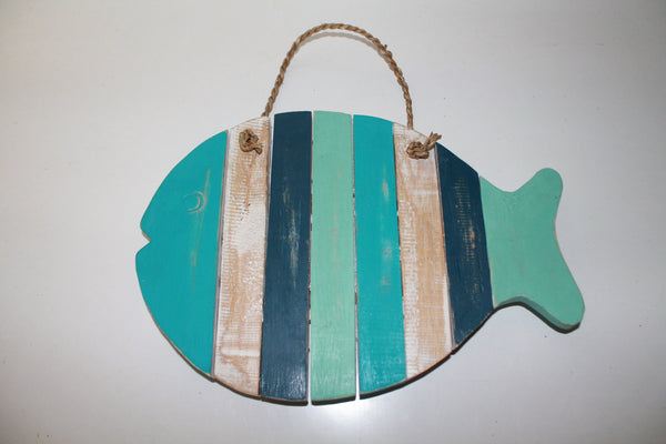 Wood Fish Wall Hang 2 colors