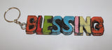 "Wooden Key Rings ""BLESSING"""