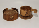 Round Coaster in a box 10cm (Teak)
