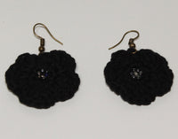 Flower Earrings in cotton