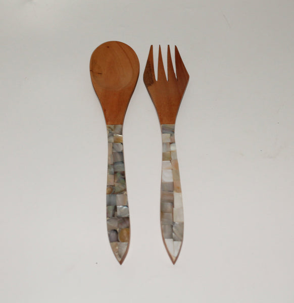 Salad spoon set (Rosewood)