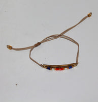 Bracelet with Gold or Silver look plate