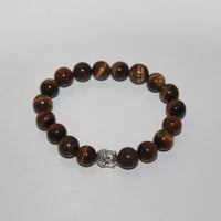 Tiger Eye Bracelet Elastic with Buddha