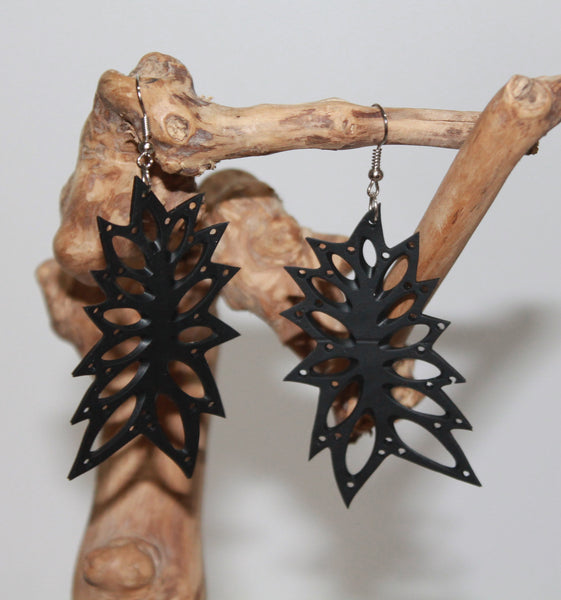 Large Earrings Of Rubber