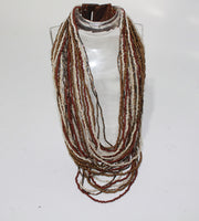 Beads Necklace Wooden Closing