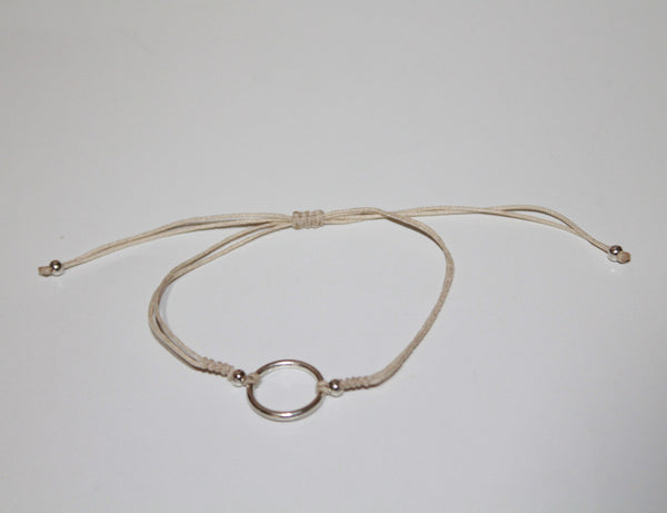 Bracelet with Silver Look Ring