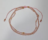 Anklet Double with Crystals and Beads