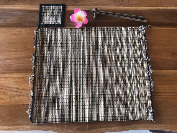 Placemats and Coasters in Bamboo-Palm