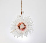 Hanging Shell Feather Flower