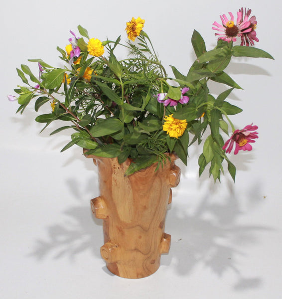 Wood Flower Pot
