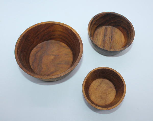 Small Bowl as Set of 3 (Teak)