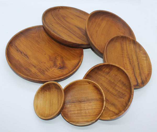Serving Plate as Set of 7 (Teak)