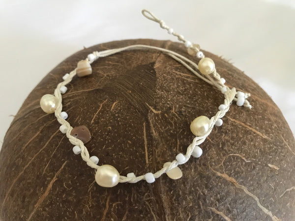Anklet With Shell Pearls