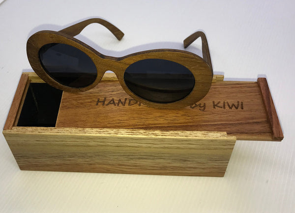 Lady Sunglasses Made From Wood (Black Lens)