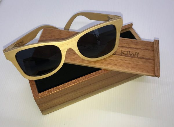 Unisex Sunglasses Made From Wood (Black Lens)