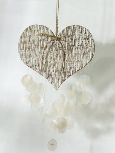 Heart with capiz chime