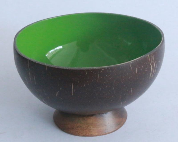 Coconut Bowl Lacquered with Stand