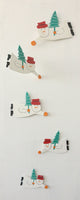 Hanging Snowman or Santa mobile