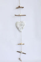 Hanging decoration Heart White