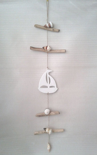 Hanging decoration Boat White