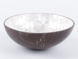 Coconut bowl laminated with shell