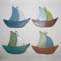 Hand Painted Iron Wall Decorations Set of 4