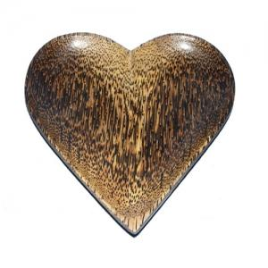 Heart Plate (Palm wood)
