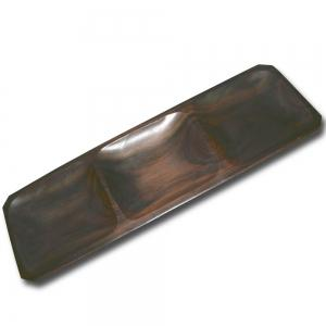Plate Rectangular With 3 Compartment (Rosewood)