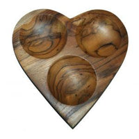 Heart Plate Large with 3 holes (Teak)